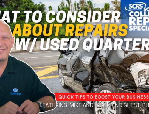 SCRS Quick Tips: Always Follow OEM Procedures – Addressing Used Quarter Panels