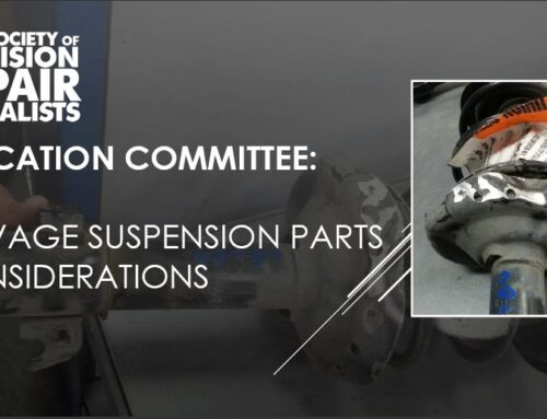 SCRS Education Committee: Salvage Suspension Parts Considerations